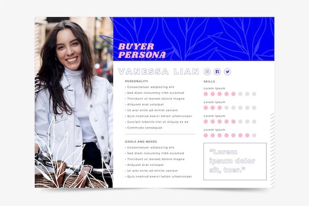 Concepto de infografía de persona de comprador