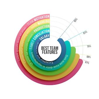 Concepto de infografía de recursos humanos