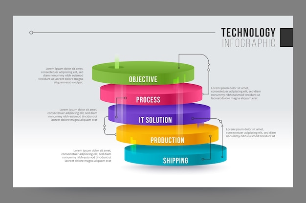 Concepto de infografía de tecnología