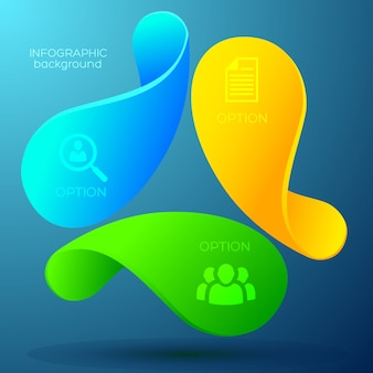 Concepto de infografía web empresarial