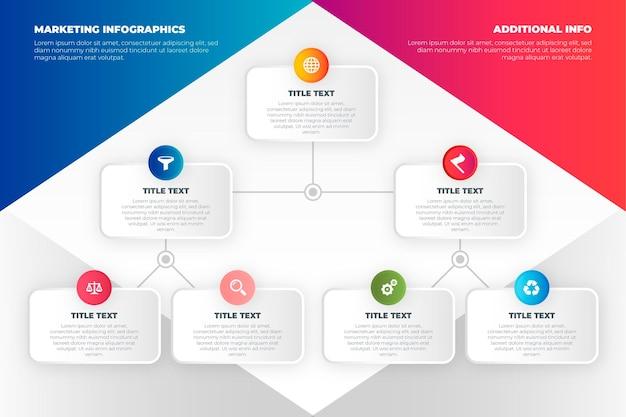 Concepto de infografías de marketing