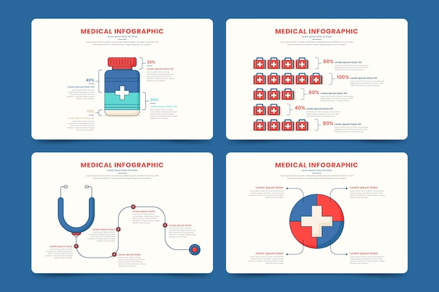 Concepto de infografías médicas