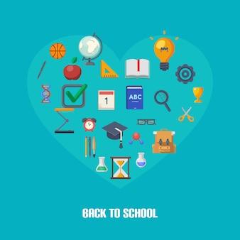 Concepto de infografías de regreso a la escuela