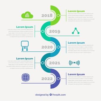 Concepto infográfico de hitos de empresa
