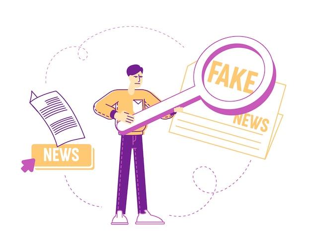 Concepto de información de falsificación de redes sociales
