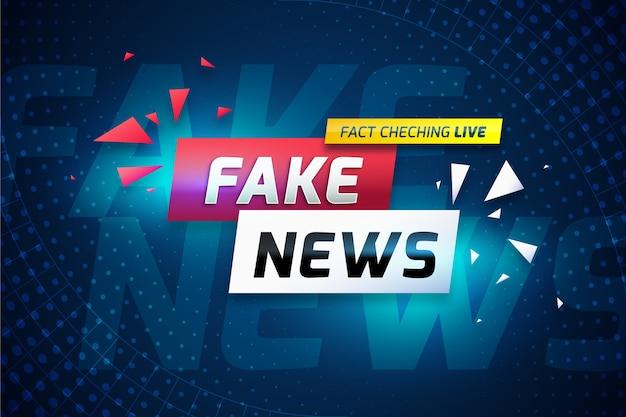 Concepto de información de noticias falsas