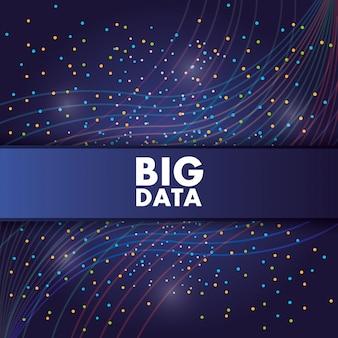 Concepto de información de visualización de centro de estructura de datos grande