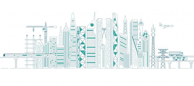 Concepto de infraestructura en ciudad