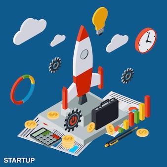 Concepto de inicio de negocio