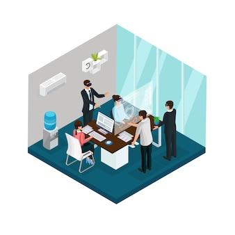 Concepto de innovación empresarial isométrica