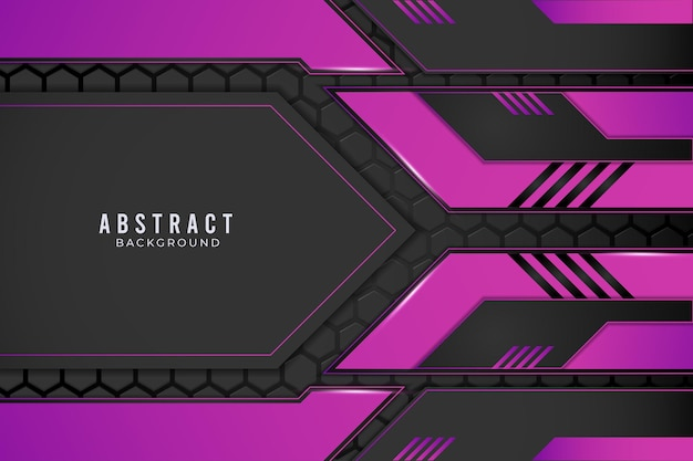 Concepto de innovación tecnológica de diseño metálico abstracto púrpura y negro.