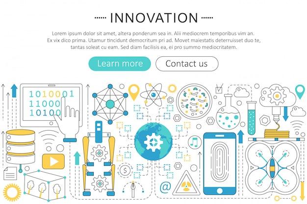 Concepto de innovación tecnológica del futuro.