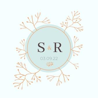 Concepto de insignia de boda