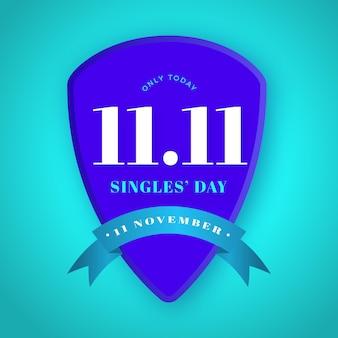 Concepto de insignia del día de solteros