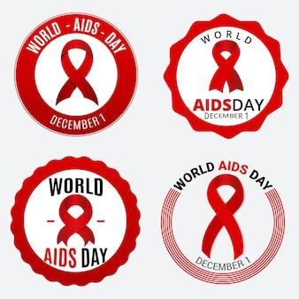 Concepto de insignias del día mundial del sida