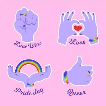 Concepto de insignias gay y orgulloso