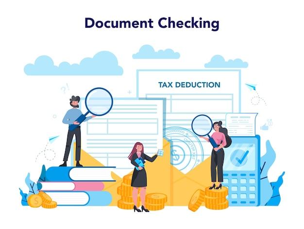 Concepto de inspector de impuestos