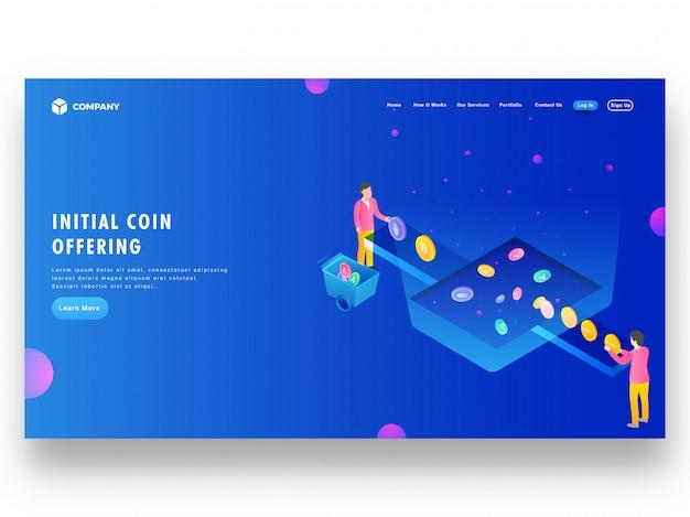 Concepto de intercambio de dinero de cryptocurrency a ico token