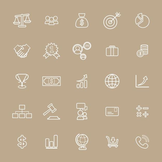 Concepto de interfaz de usuario de banca de negocios de vector de colección
