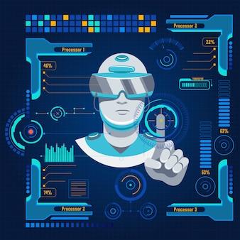 Concepto de interfaz de usuario futurista