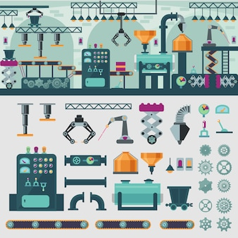 Concepto de interior de fábrica