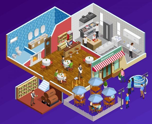 Concepto de interior del restaurante