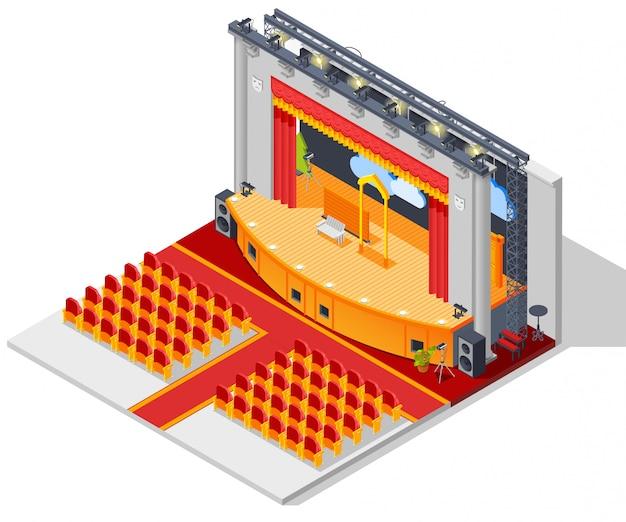Concepto de interior del teatro