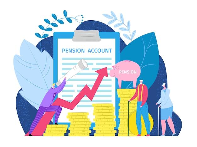 Concepto de inversión de ingresos de jubilación de pensiones