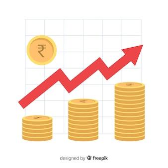 Concepto de inversión de rupias indias
