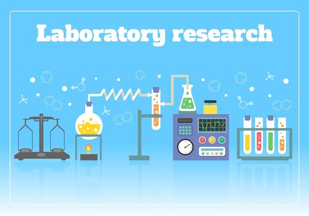 Concepto de investigación de laboratorio