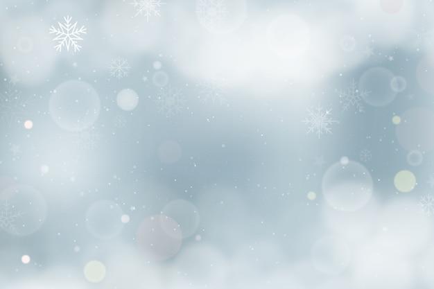 Concepto de invierno con fondo borroso