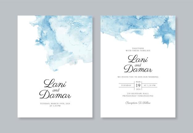Concepto de invitación de boda elegante