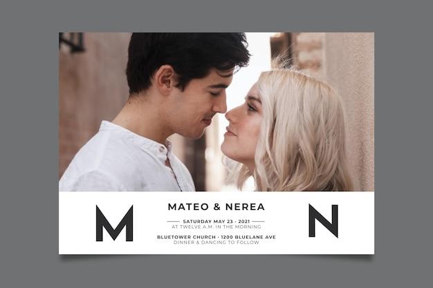 Concepto de invitación de boda