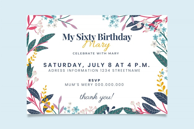 Concepto de invitación de cumpleaños