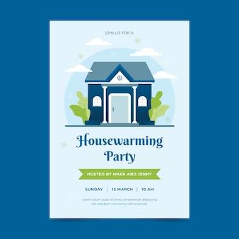 Concepto de invitación de fiesta de calentamiento de casa