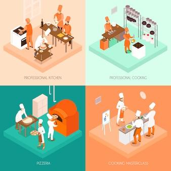 Concepto isométrico de cocina