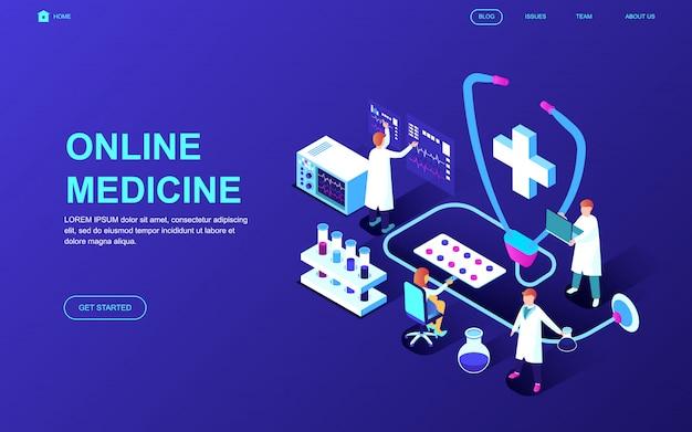 Concepto isométrico de diseño plano moderno de medicina y salud.