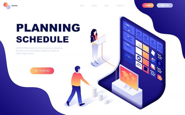 Concepto isométrico moderno diseño plano de planificación de planificación