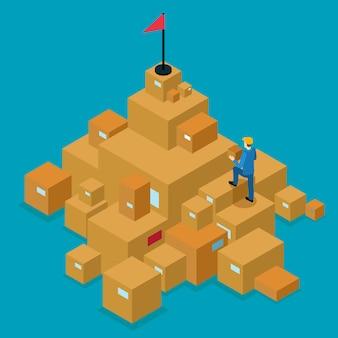 Concepto isométrico de servicio de entrega