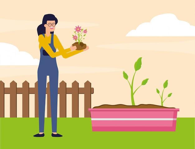 Concepto de jardinería