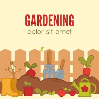 Concepto de jardinería.