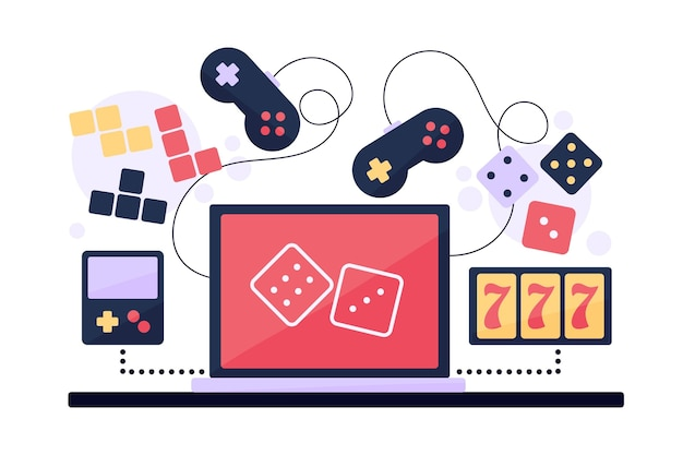 Concepto de juegos en línea