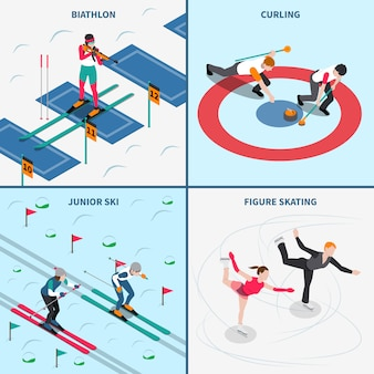 Concepto de los juegos olímpicos de invierno