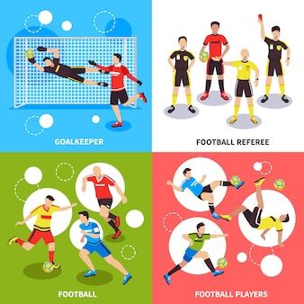 Concepto de jugadores de fútbol