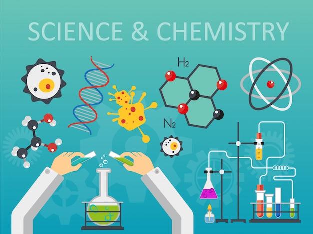 Concepto de laboratorio de ciencias químicas