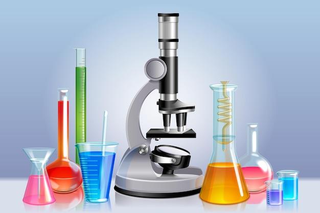 Concepto de laboratorio de ciencias realista