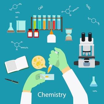 Concepto de laboratorio de química