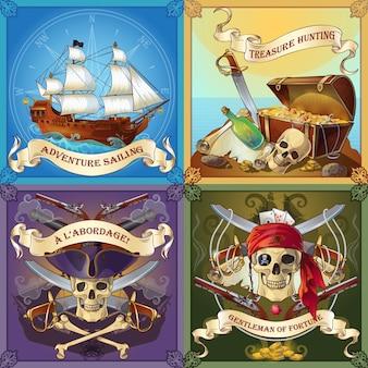 Concepto de ladrones de mar