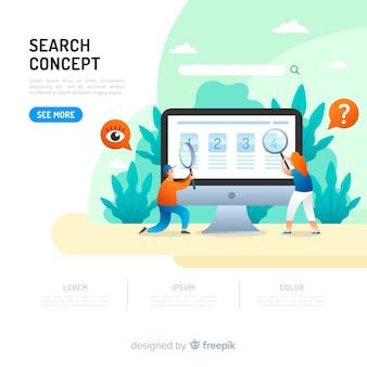 Concepto para landing page de búsqueda