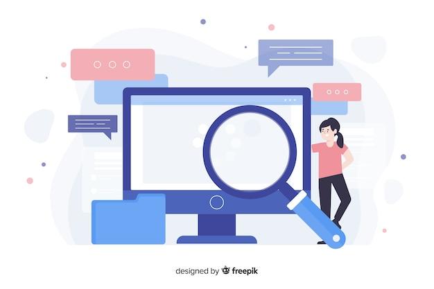 Concepto de landing page de búsquedas